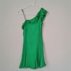 Armani Exchange green asymmetrical dress